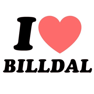 "Bildekal - ""I Love Billdal"""