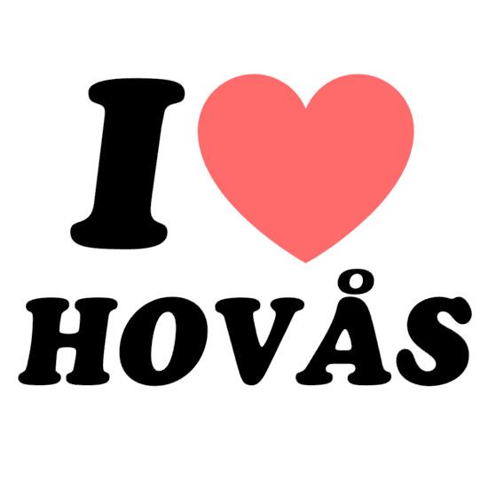 """Bildekal - """"I Love Hovås"""""""