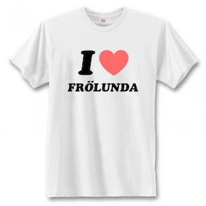 "T-Shirt - ""I Love Frölunda"""