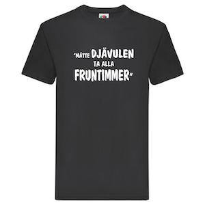 """T-Shirt, """"Fruntimmer"""", Svenska Citat"""