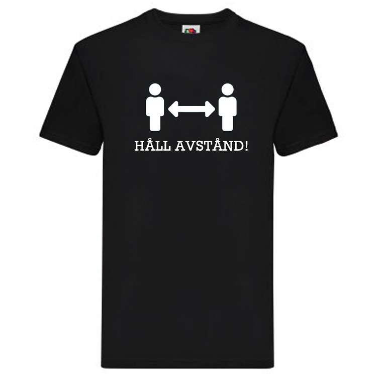 T-Shirt - Håll avstånd, Figurer med pil