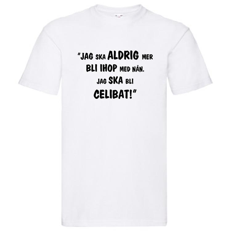 "T-Shirt, ""Jag ska bli celibat"", Svenska Citat"