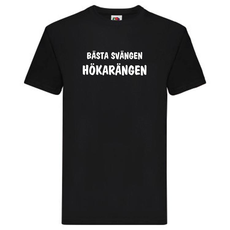 """T-Shirt, """"Bästa svängen, Hökarängen"""", Svenska Citat"""