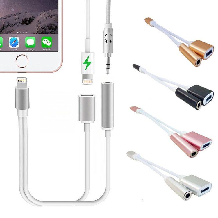 iPhone 78X Adapter Lightning till Dubbla Lightning Ladda och Lyssna