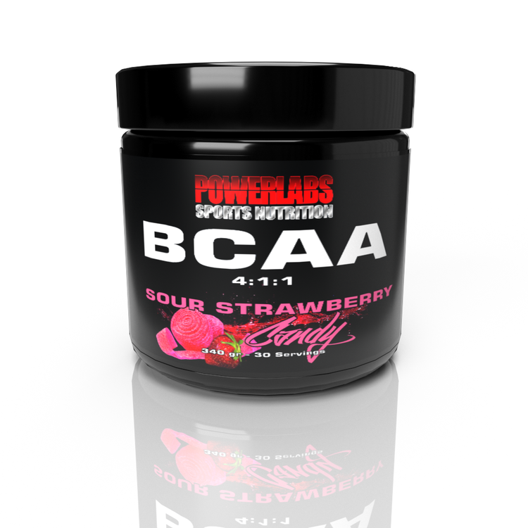 PowerLabs BCAA - Sour Strawberry Candy