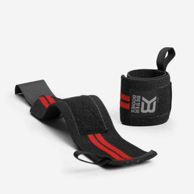 Elastic Wrist Wraps, Black/Red