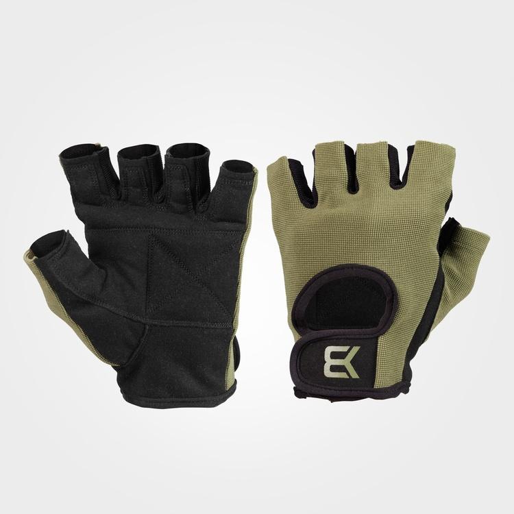 Basic Gym Gloves, Khaki Green