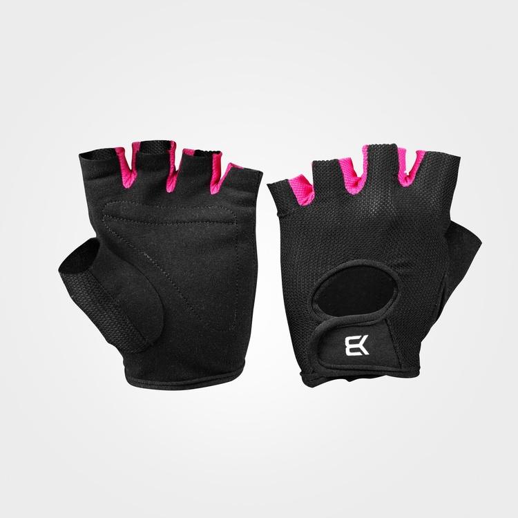 Womens train gloves, Black/Pink
