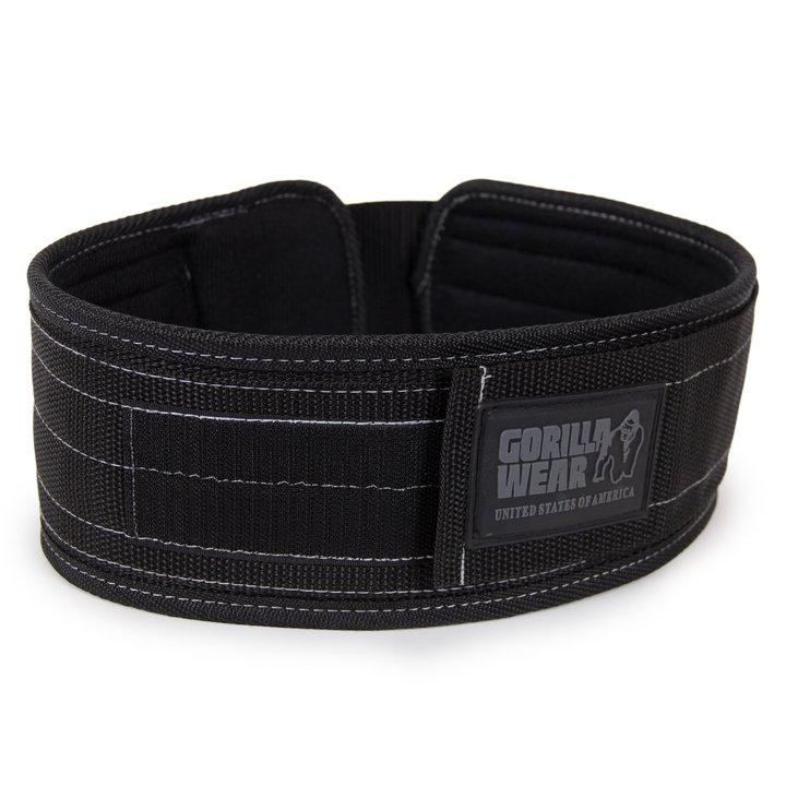 Gorilla Wear - 4 Inch Nylon Belt, black