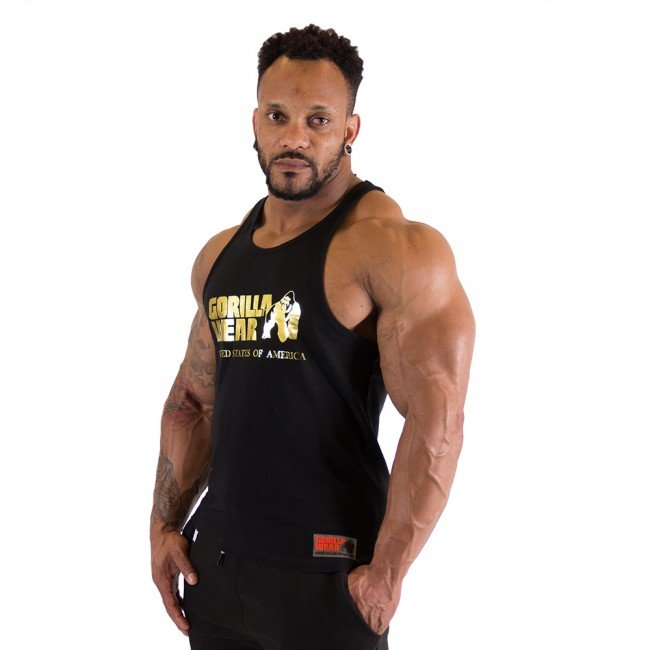Gorilla Wear - Classic Tank Top, black/gold