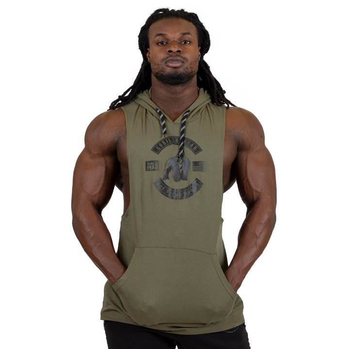 Lawrence Hooded Tank Top, army green