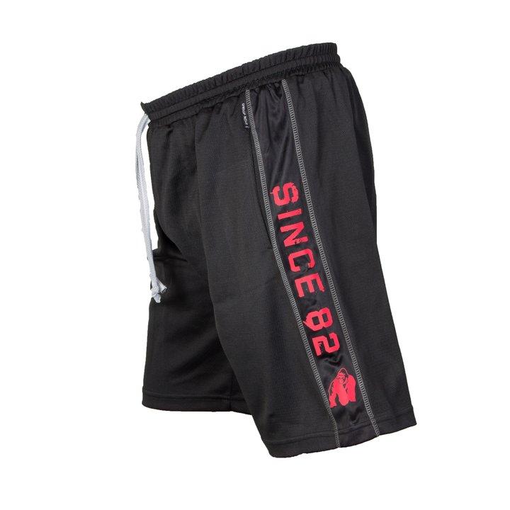 Functional Mesh Shorts, black/red
