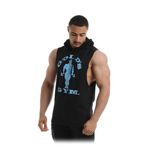 Golds Gym - Drop Armhole Hooded Vest - Black