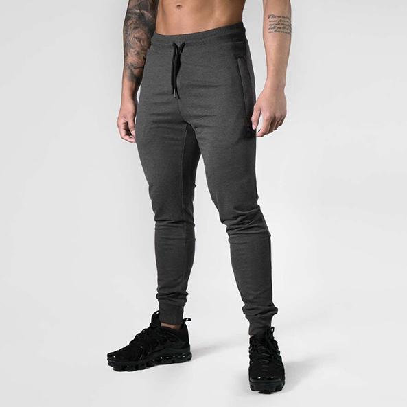 Tapered Joggers V2 - Dark grey melange