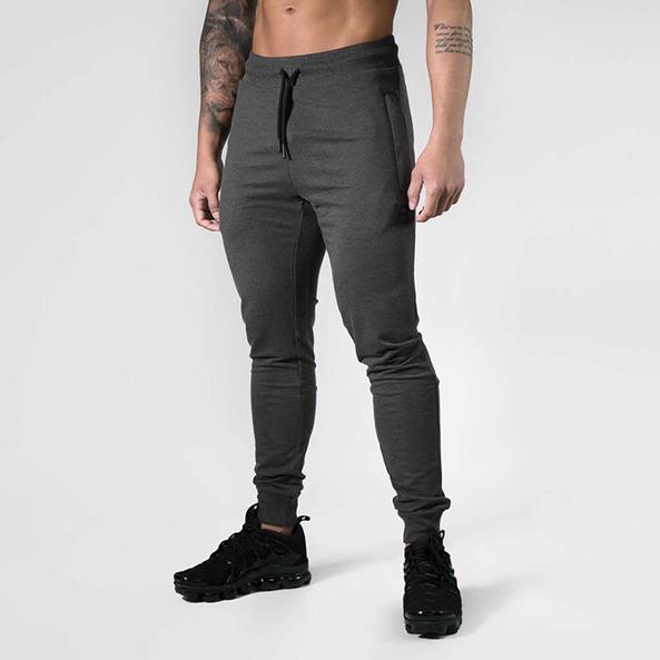 Tapered Joggers V2 - Dark grey melange