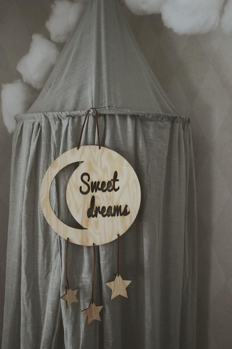 """Trätavla - """"Sweet dreams"""""""