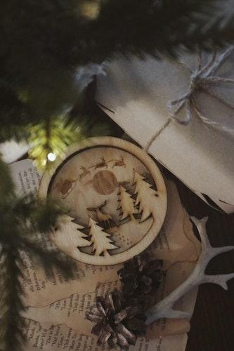 Julkula - Hjort i vinterlandskap