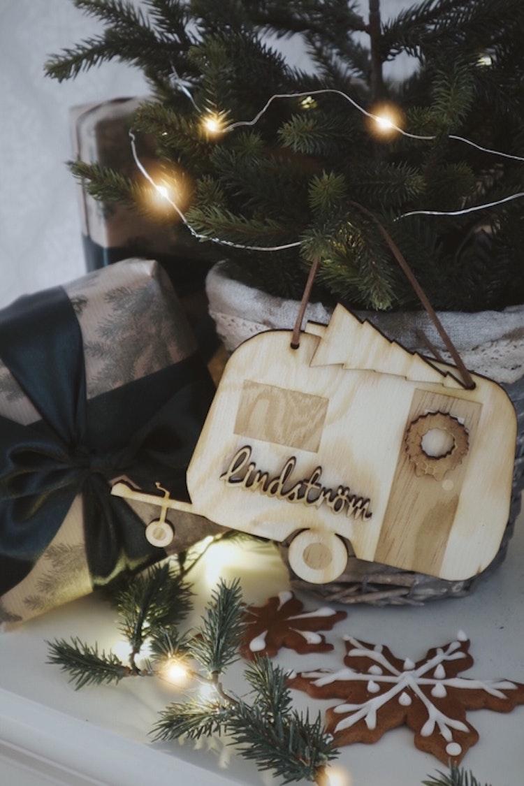 Husvagn skylt - klassisk eller jul edition