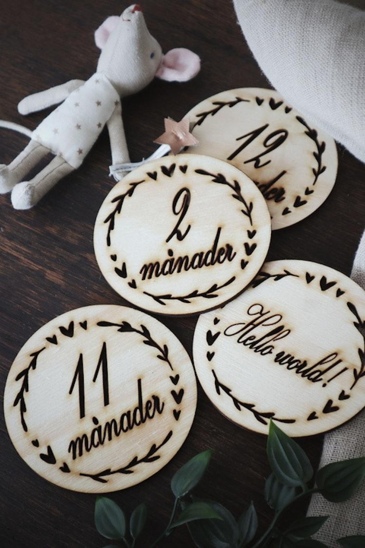 Milestone cards i trä