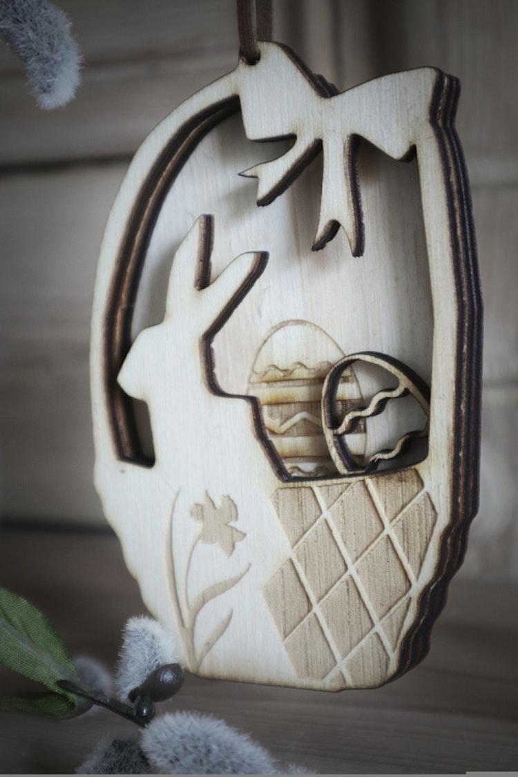 Påskdekoration - Hare i korg