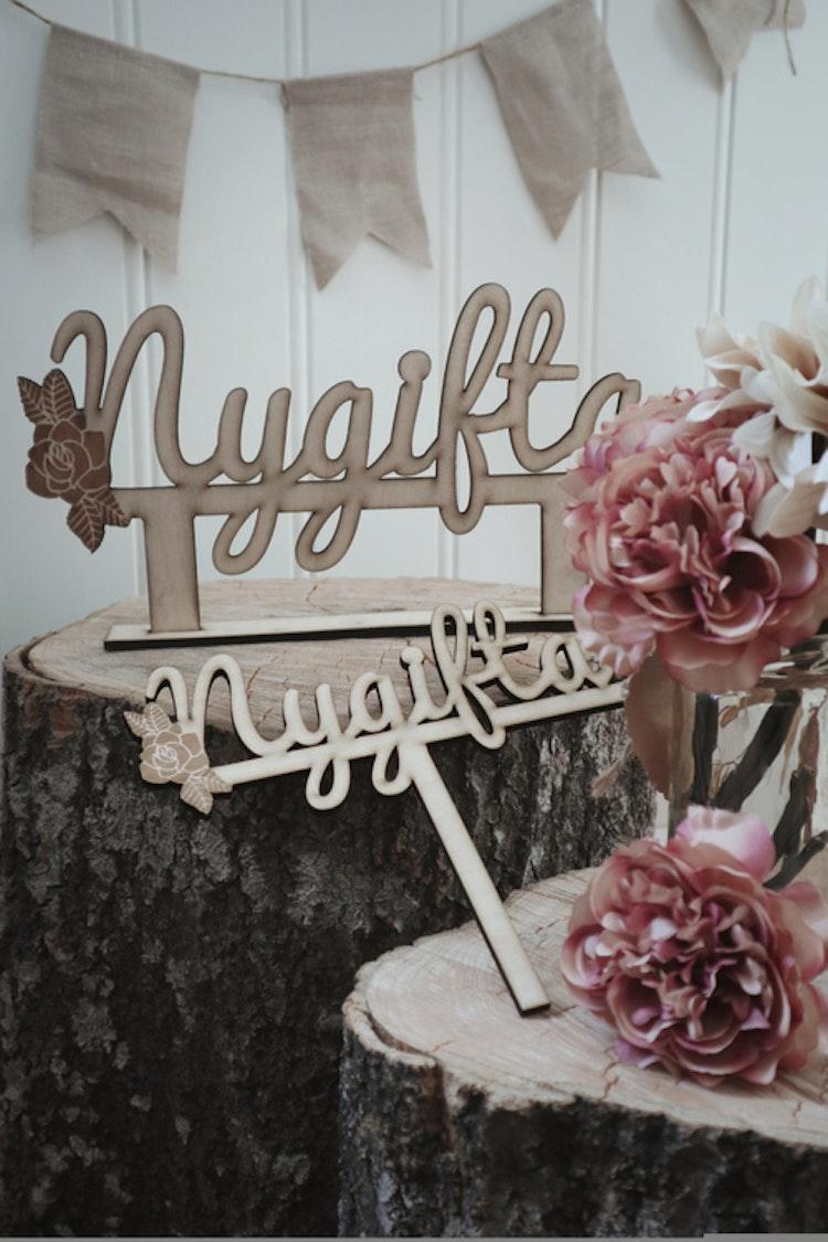 Cake topper - Nygifta