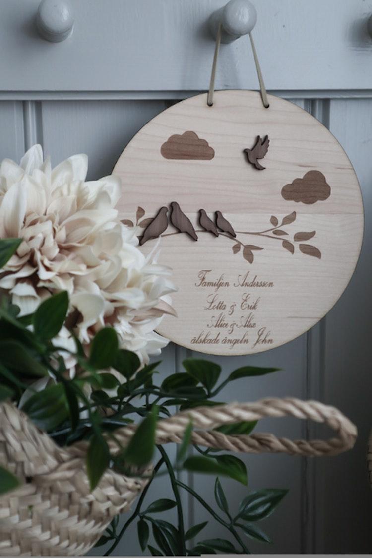 Tavla - Familj Fåglar