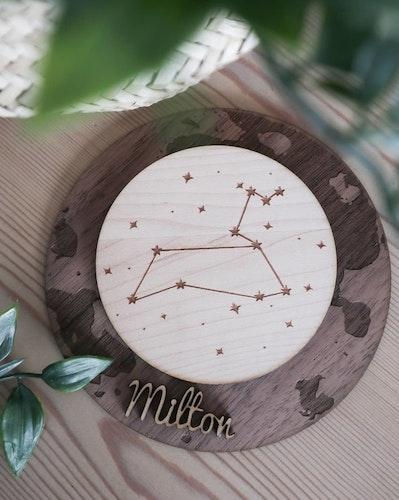 Tavla med stjärntecken - med eller utan namn