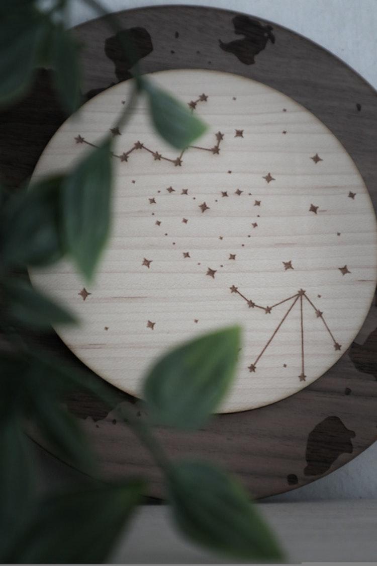 Tavla - Flera stjärntecken i samma bild