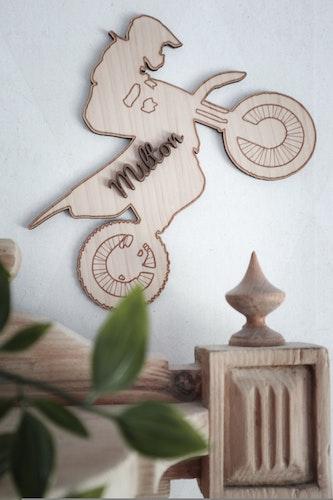 Tavla - Cross med valfritt namn