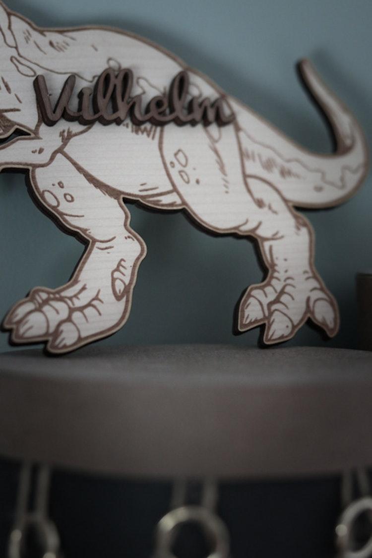 Dinosaur med valfritt namn