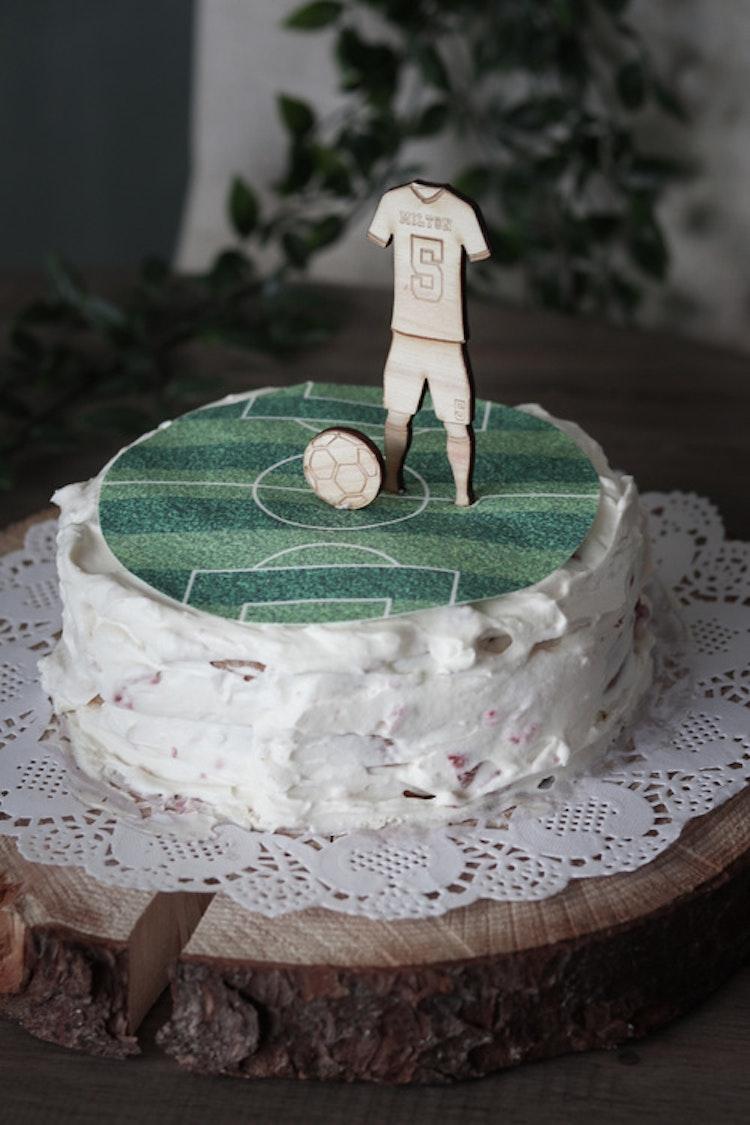 Fotbollspelare - Cake topper / tårtdekoration