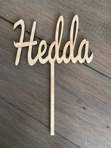 OUTLET - Caketopper med namnet - Hedda