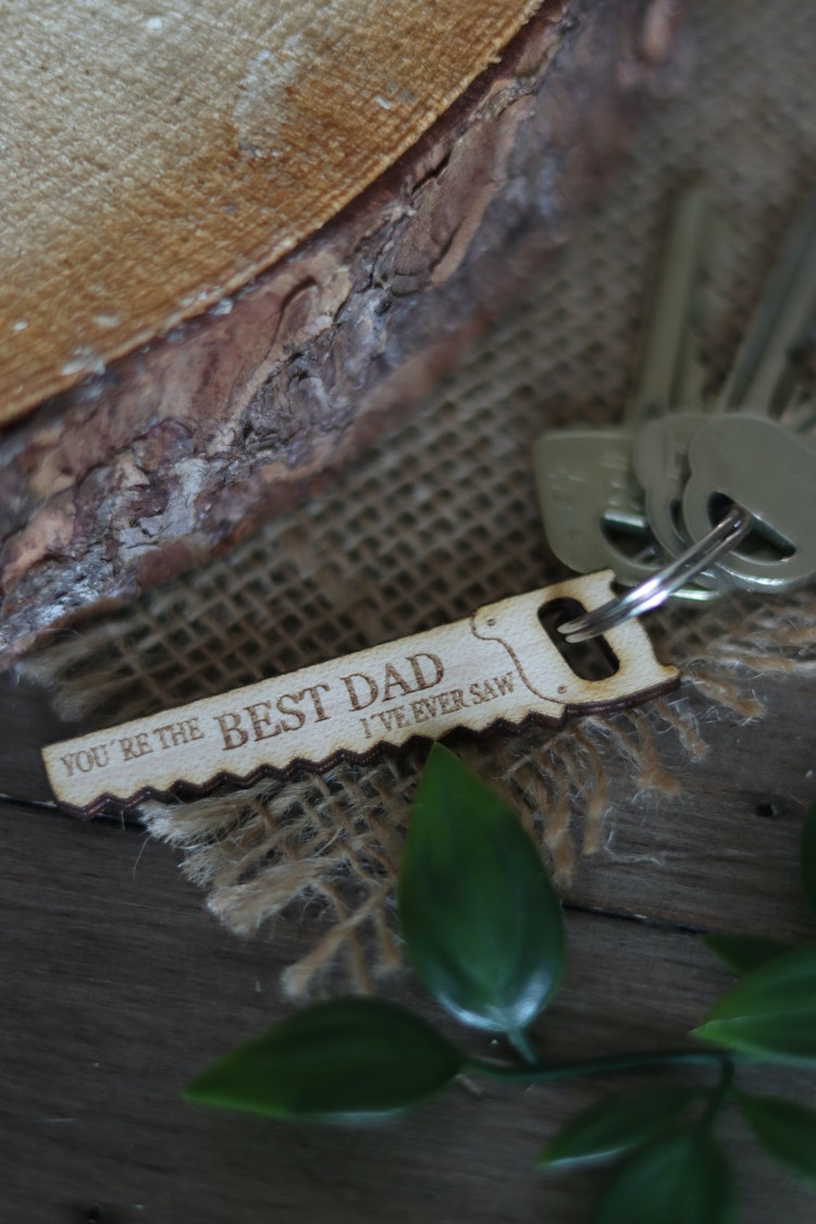 """Nyckelring - Såg """"You´re the best dad I´ve ever saw"""""""