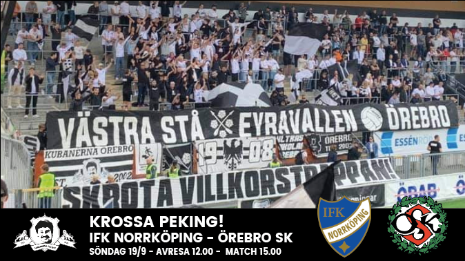 Norrköping away 19 september