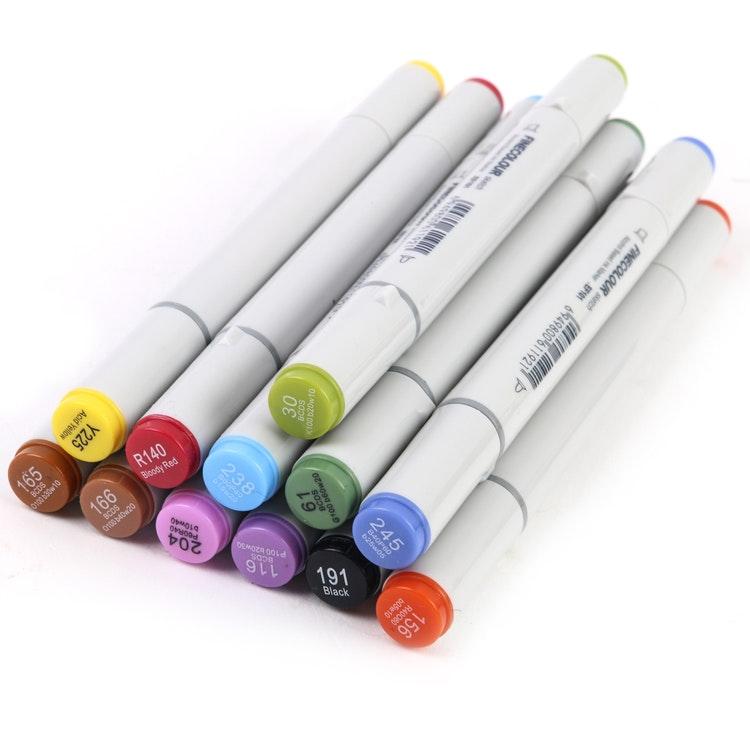 12-pack pennor för flugbindning