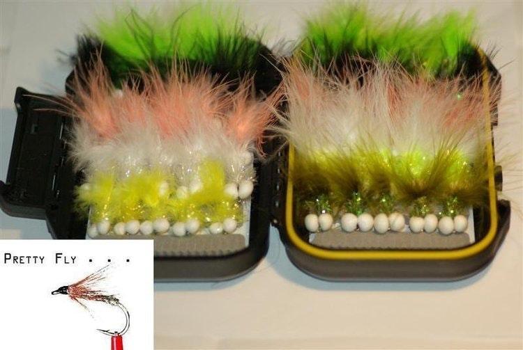 Present till fiskaren | 40 st exklusiva flugor i slitfoam-ask