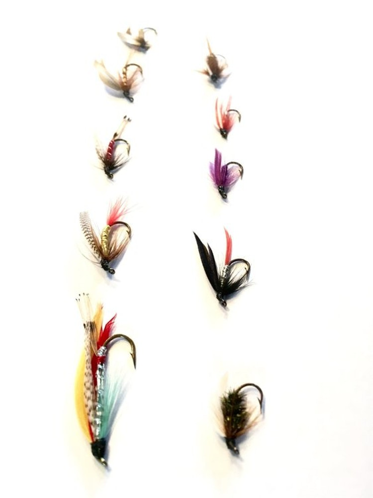 10 st klassiska våtflugor från Normark