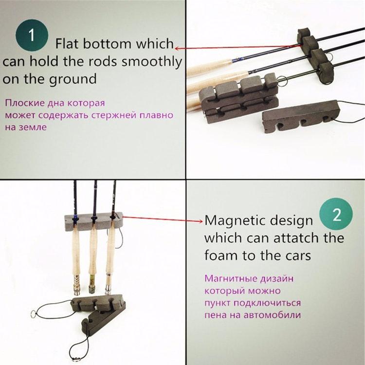 Spöhållare, magnet för flera spön.