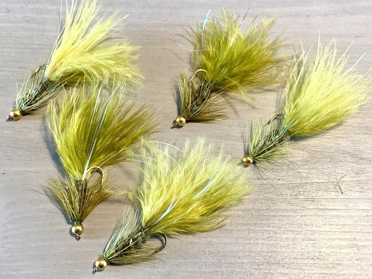 5st Wolly Bugger, grön/oliv