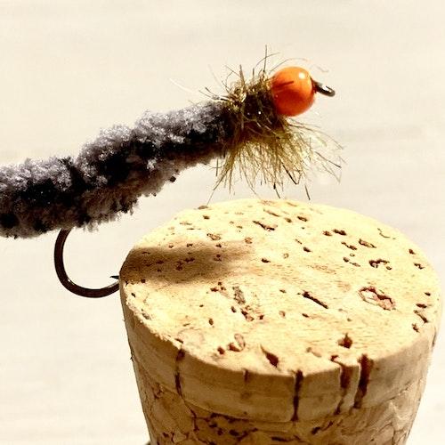 5 st Cased Caddis Tungsten Mop Fly