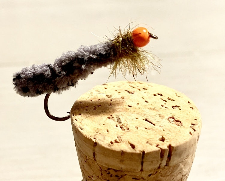 5 st Cased Caddis Tungsten Mop Fly