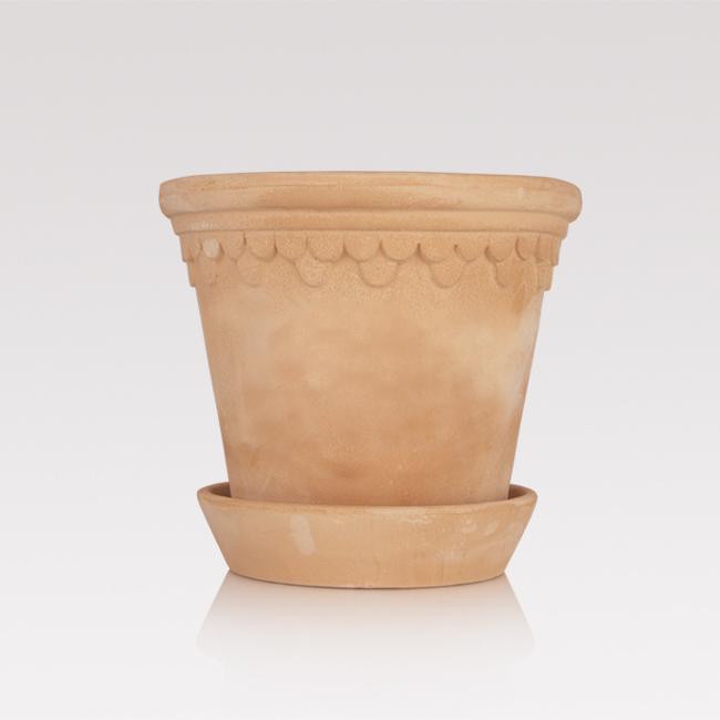 Handmade terracotta pot
