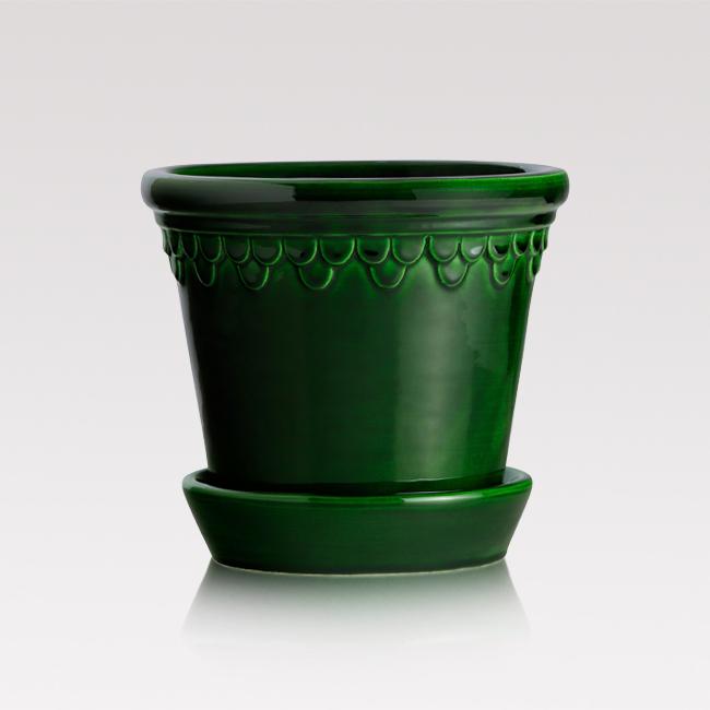 Handmade glazed pot