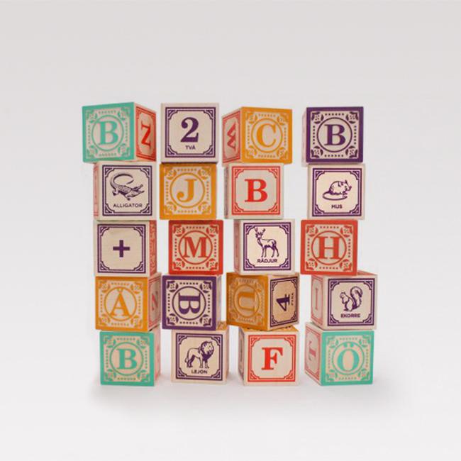 Swedish ABC blocks