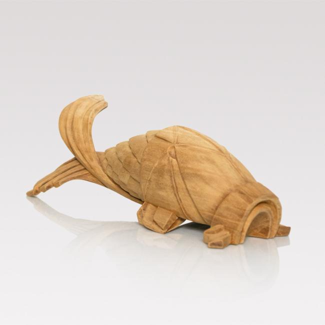 Hand-carved carp