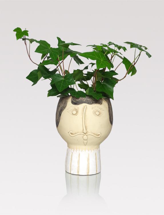 Male head planter
