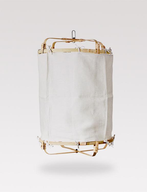 Bamboo textile lantern