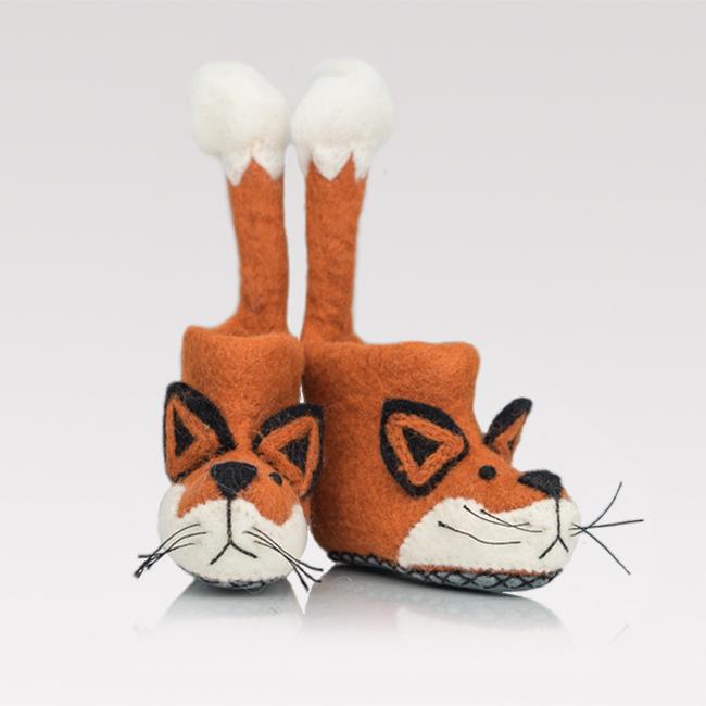 Handmade felt slippers