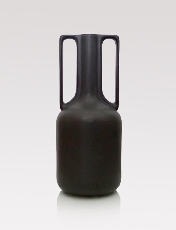 Ceramic vase with handles