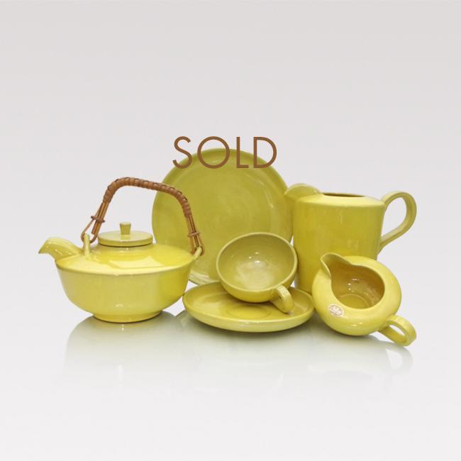 Nittsjö ceramics vintage breakfast set